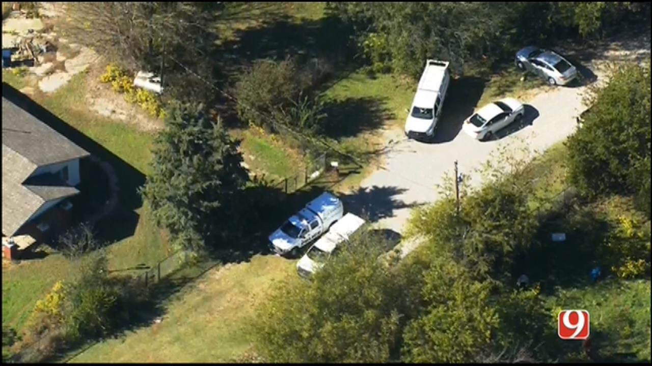 WEB EXTRA: SkyNews 9 Flies Over Scene Where Body Was Found In NE OKC