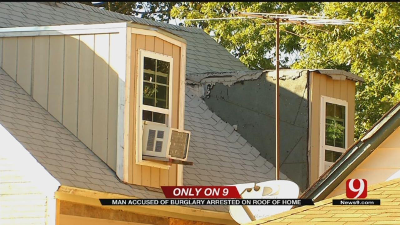 Police Arrest Suspect On Roof