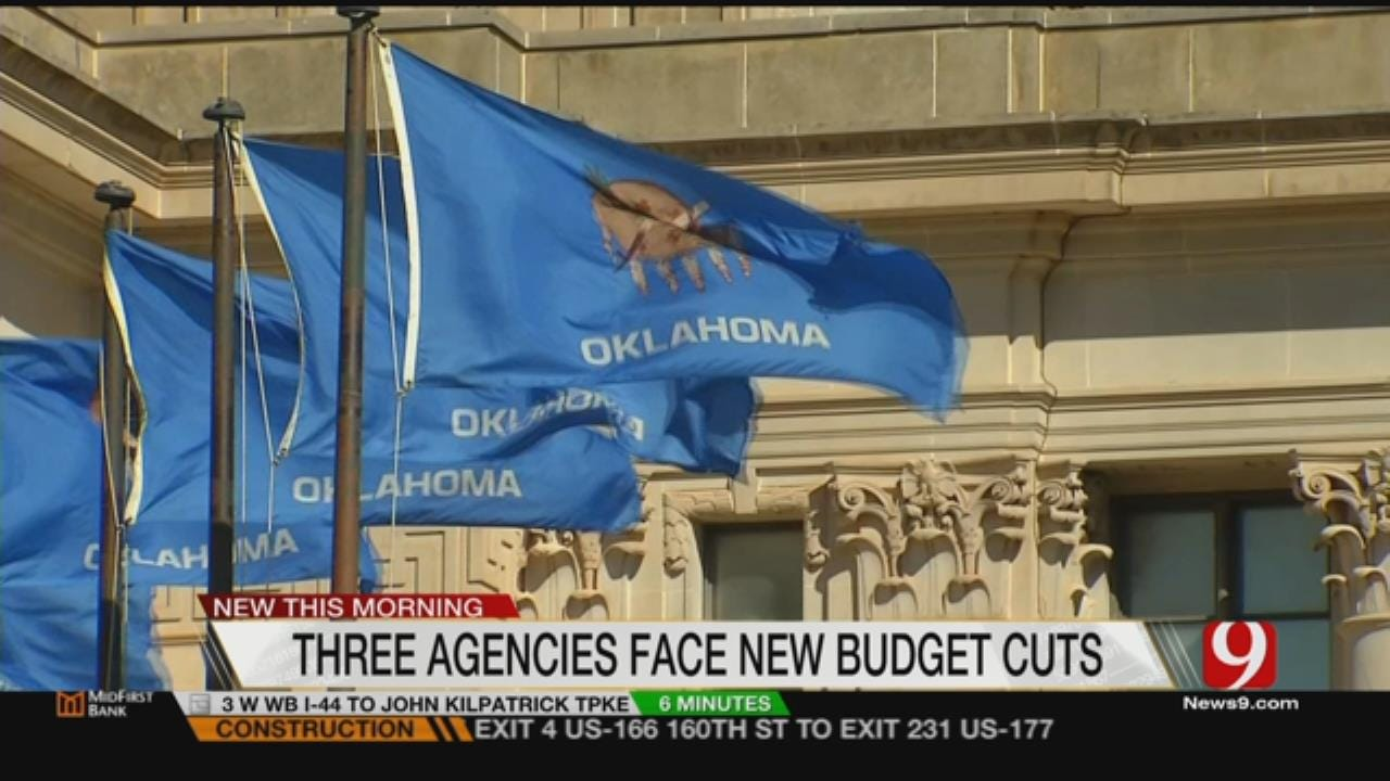 Three State Agencies To Face New Budget Cuts