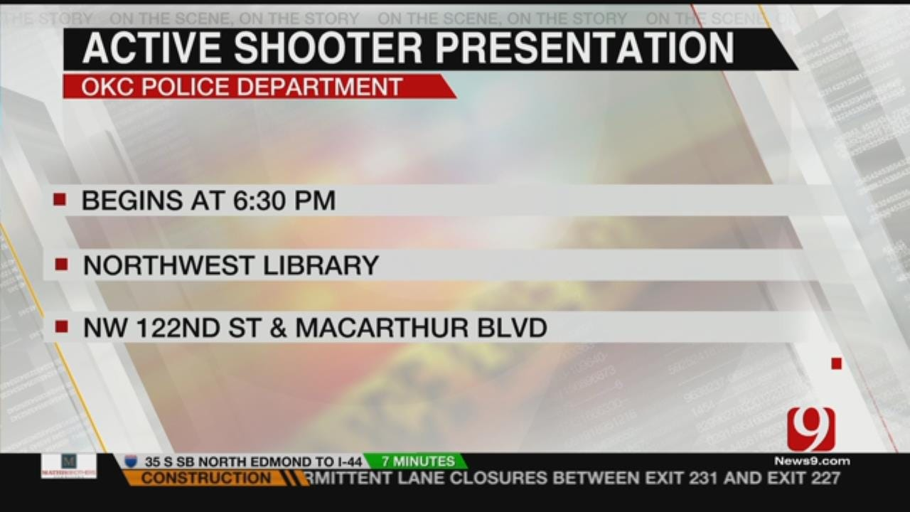 OKC Police To Host Presentation Concerning Active Shooter Situations