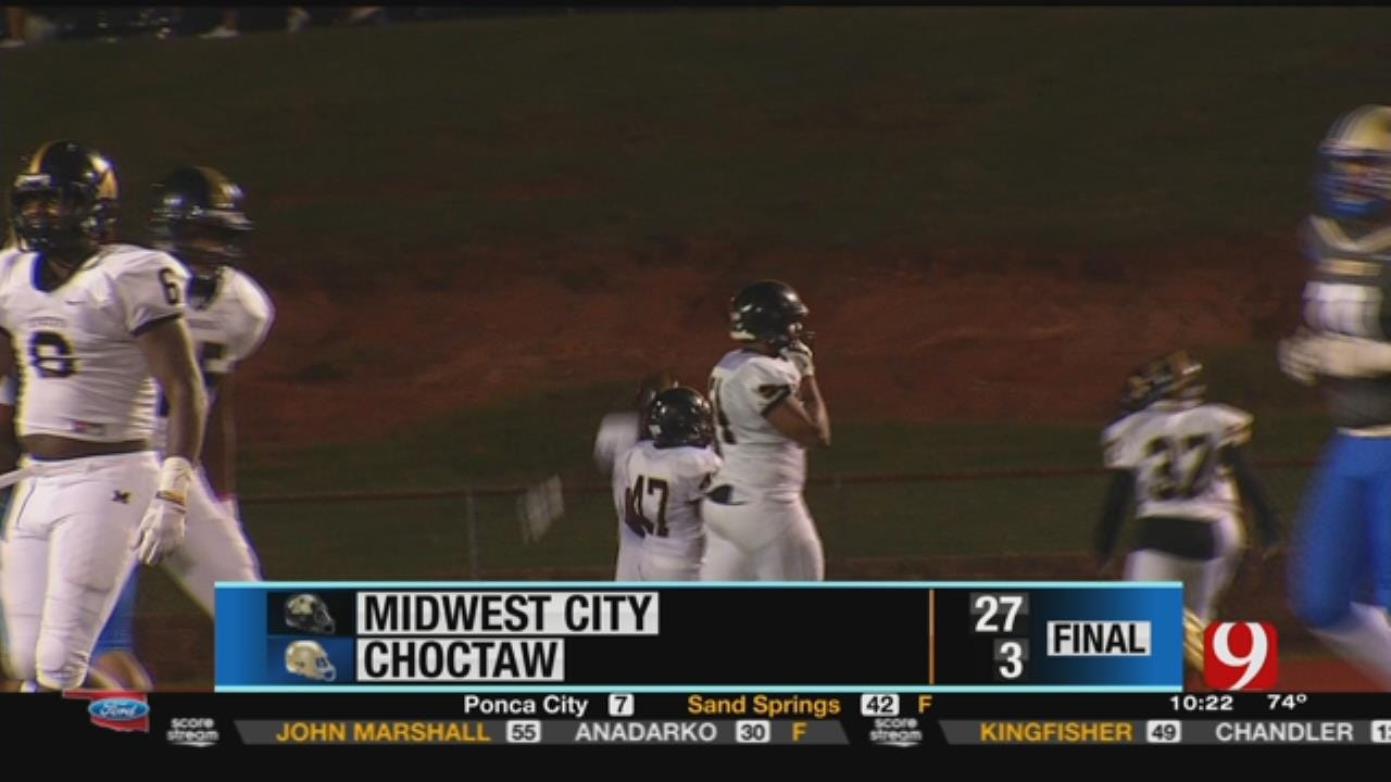 Midwest City 27 at Choctaw 3