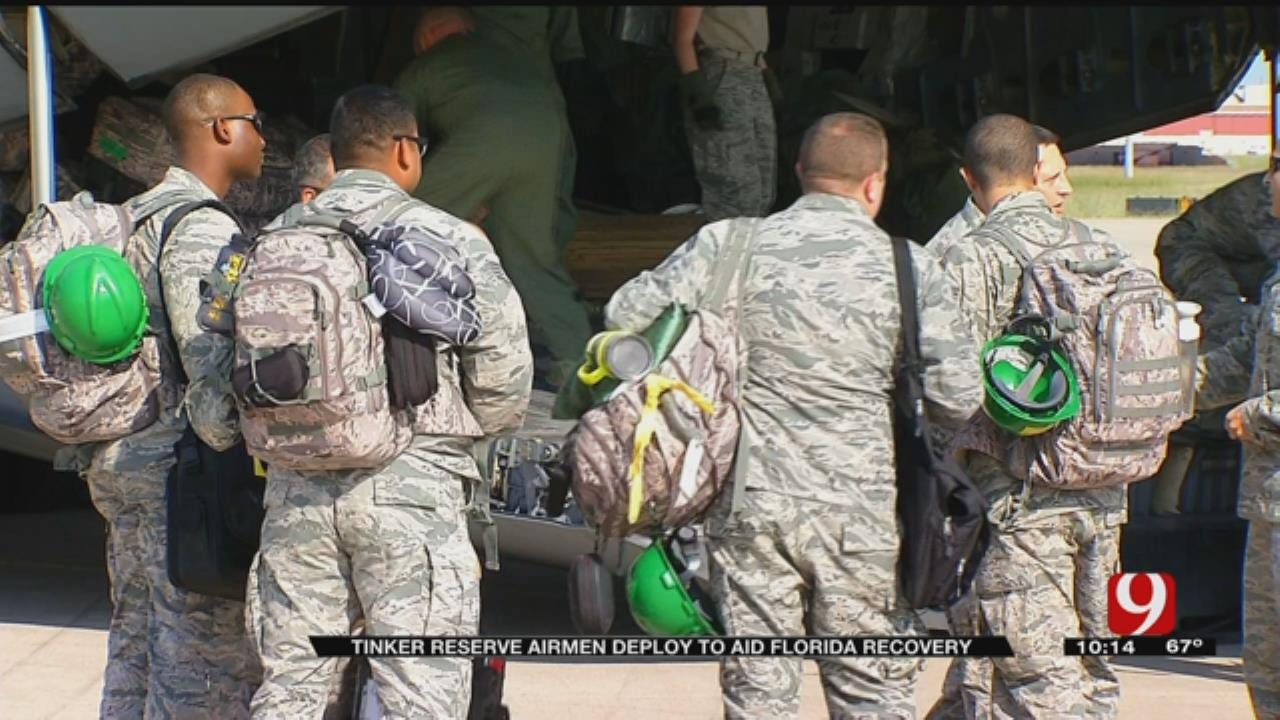 Tinker Reserve Airmen Deploy To Aid Florida Recovery