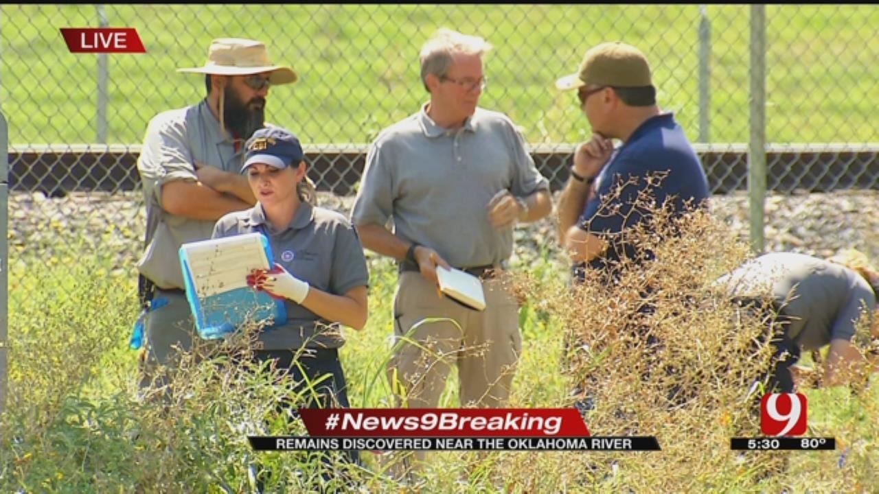 Homicide Detectives Investigating Skeletal Remains In S. OKC