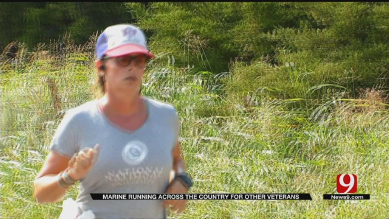 Marine On Cross-Country Mission Gives Back To OKC's Special Needs Athletes