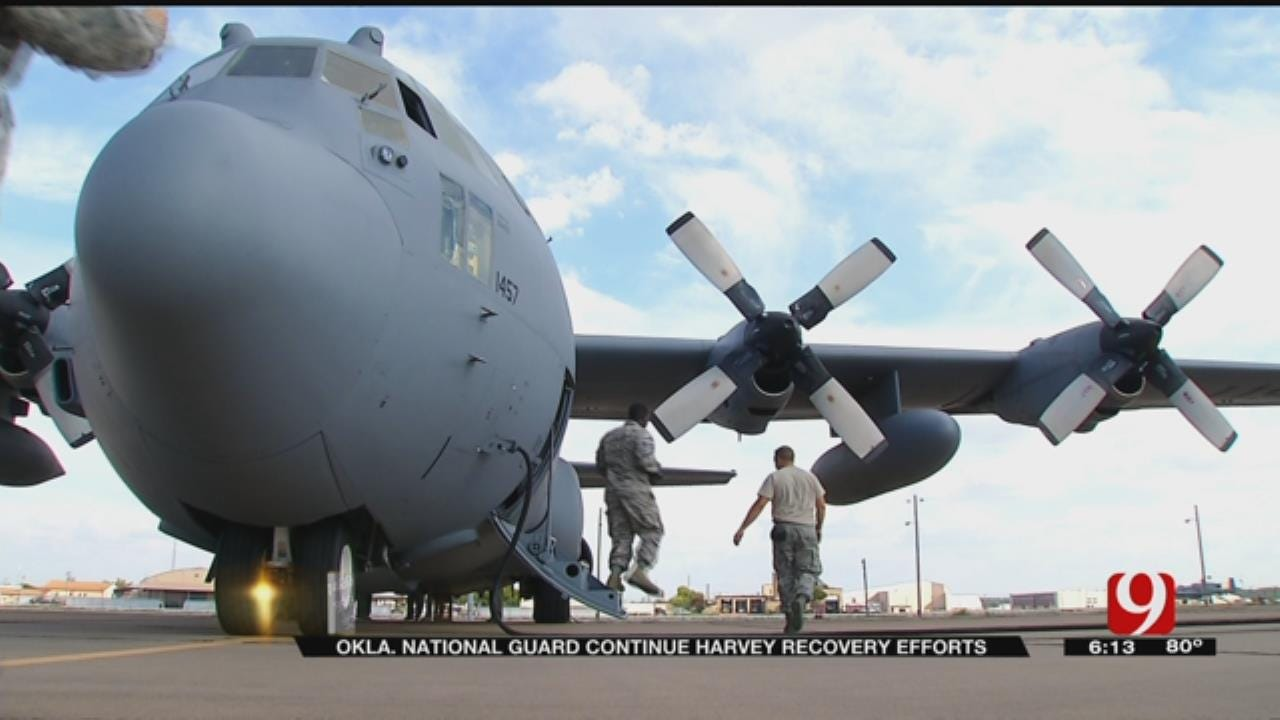 OK National Guardsmen Deployed To Harvey-Affected Texas