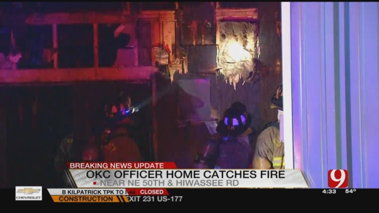Arson Investigators Investigate Fire At OCPD Officer's Home