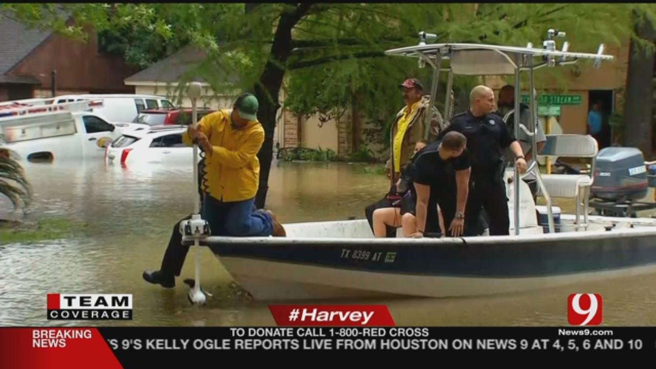 Thousands Rescued From Flood Waters In Houston Area During Harvey