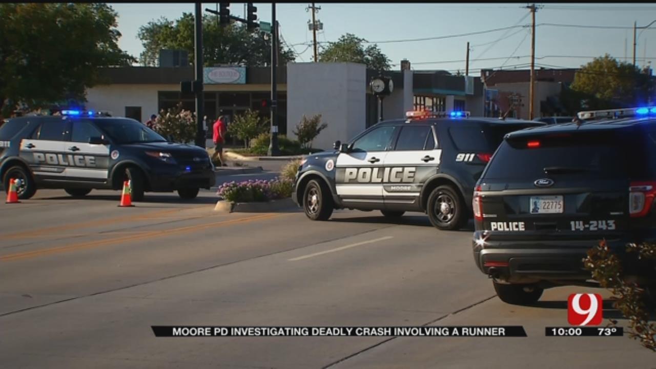 Moore PD Investigating Deadly Auto-Pedestrian Crash Involving Runner
