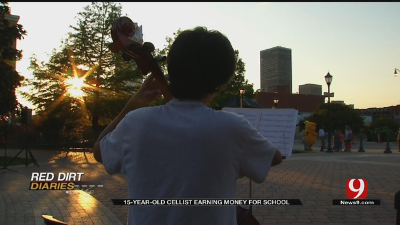 Red Dirt Diaries: 15-Year-Old Cellist Earning Money For School