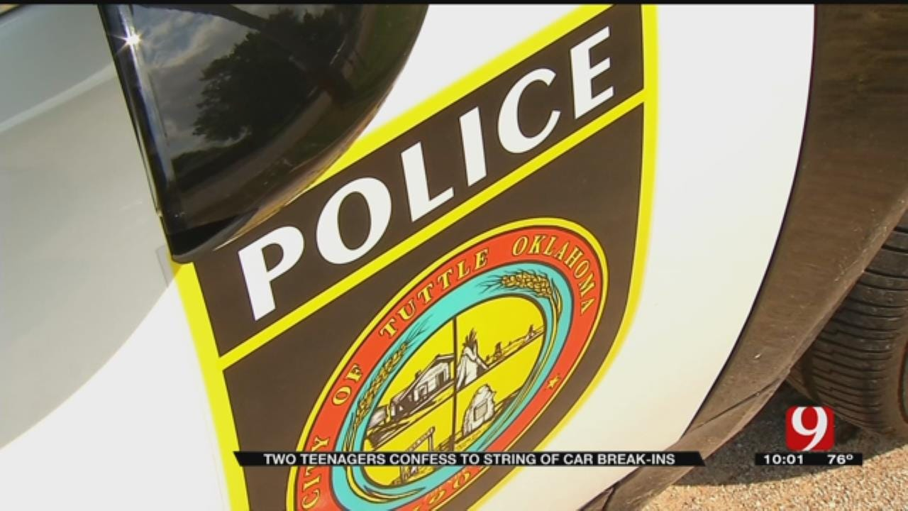 Two Teens Reportedly Confess To String Of Auto Burglaries In Tuttle