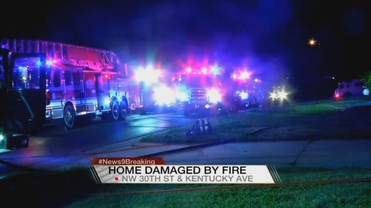 Crews Battle House Fire In NW OKC