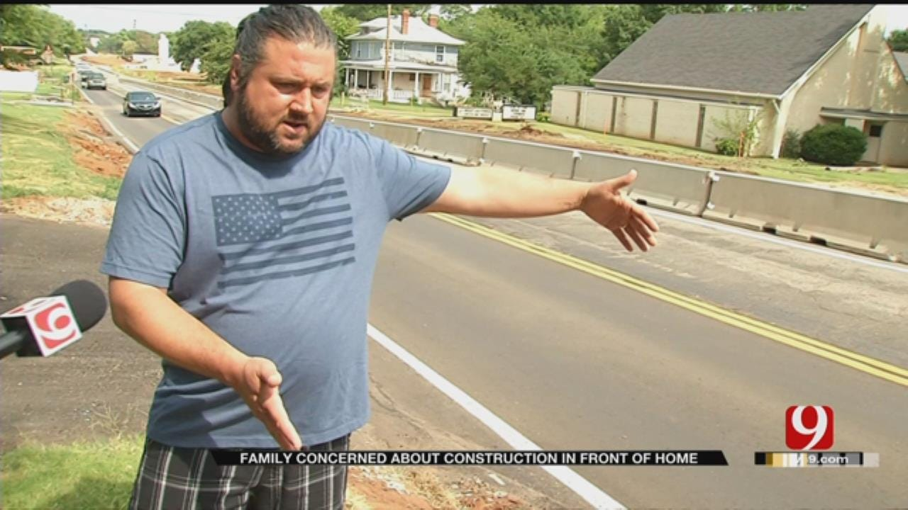 Family Concerned About Construction In Front Of Guthrie Home