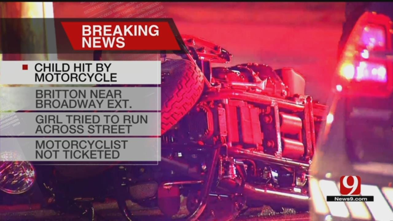 Child Suffers Minor Injuries After Hit By Motorcycle In NW OKC