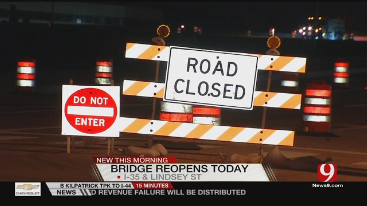 Lindsey St. Bridge In Norman Reopens Today