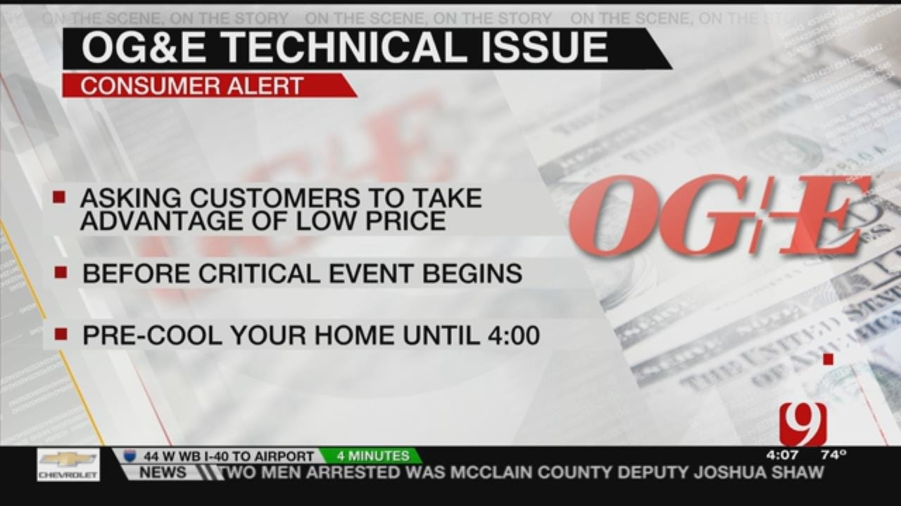 OG&E Pricing Glitch Drops Cost For Today Only