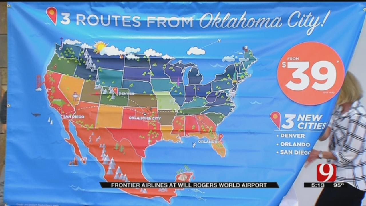 Frontier Airlines To Launch Service To Three Cities From OKC WRWA