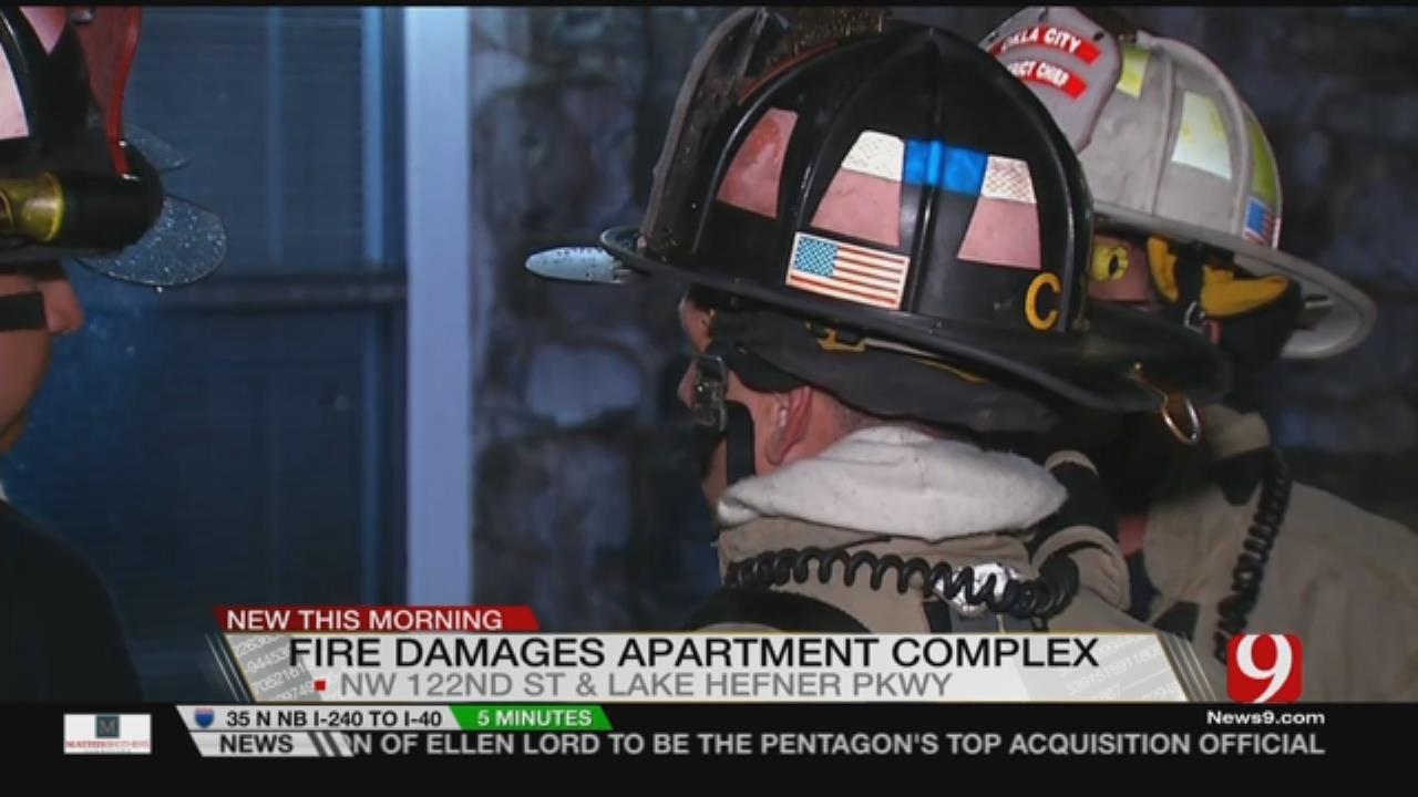 OKC Fire Battles NW OKC Apartment Fire Early Tuesday