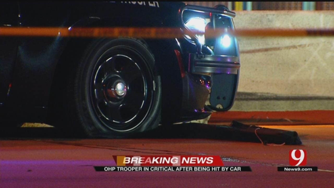 OHP Trooper In Critical Condition After Being Hit By Car On I-35