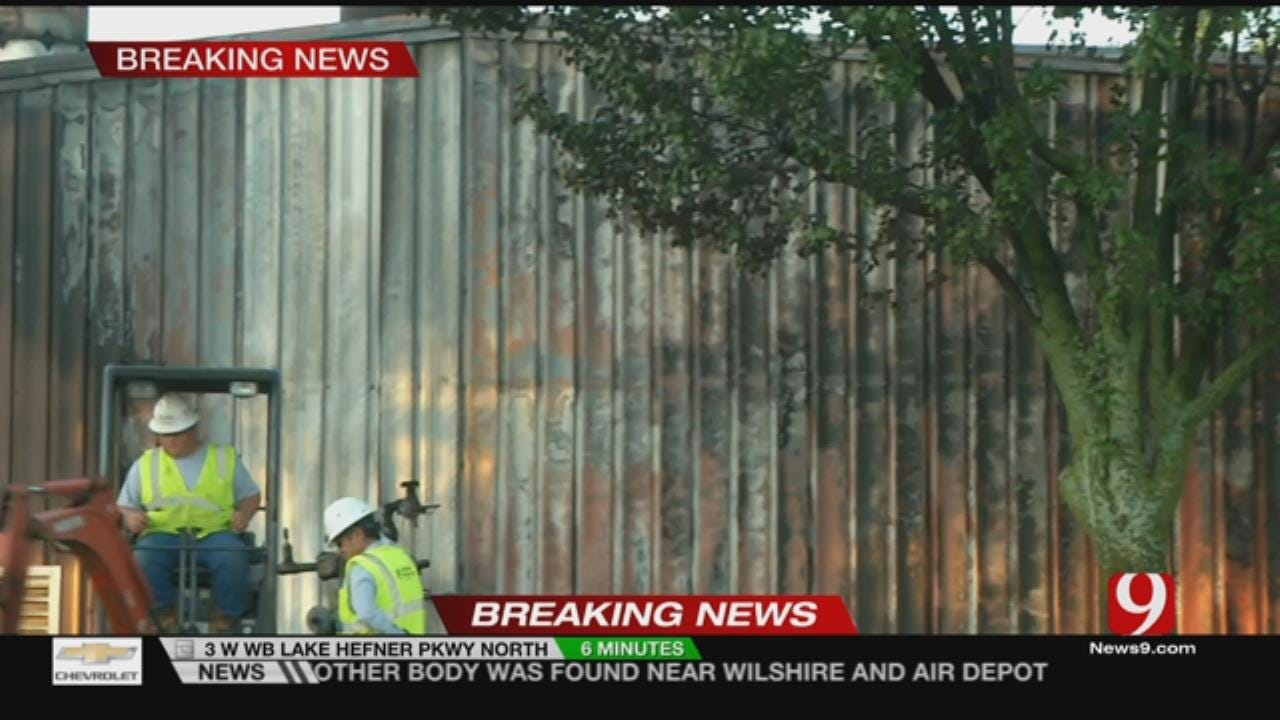 Officials Respond To Fire At NE OKC Crematorium