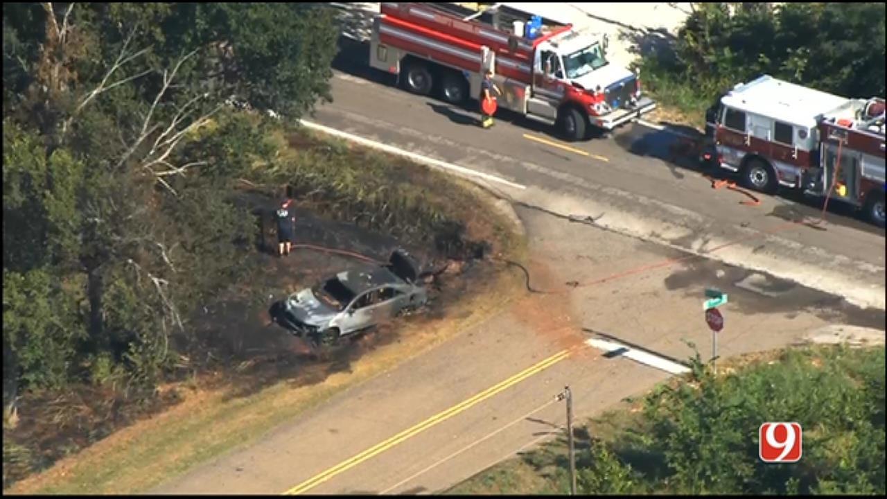 WEB EXTRA: SkyNews 9 Flies Over Deadly Crash In NE OKC