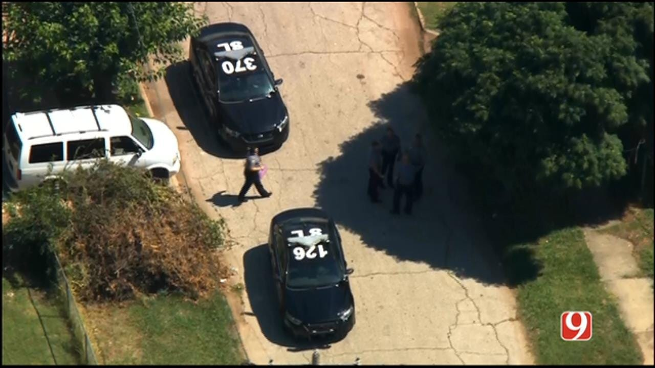 WEB EXTRA: SkyNews 9 Flies Over Shooting Investigation Near Downtown OKC