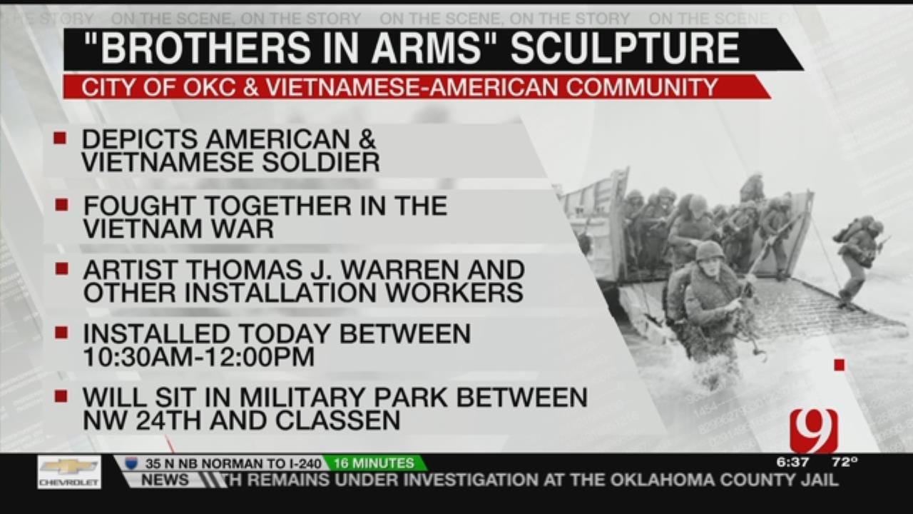 Vietnam Memorial Statue Installed In OKC Park Thursday
