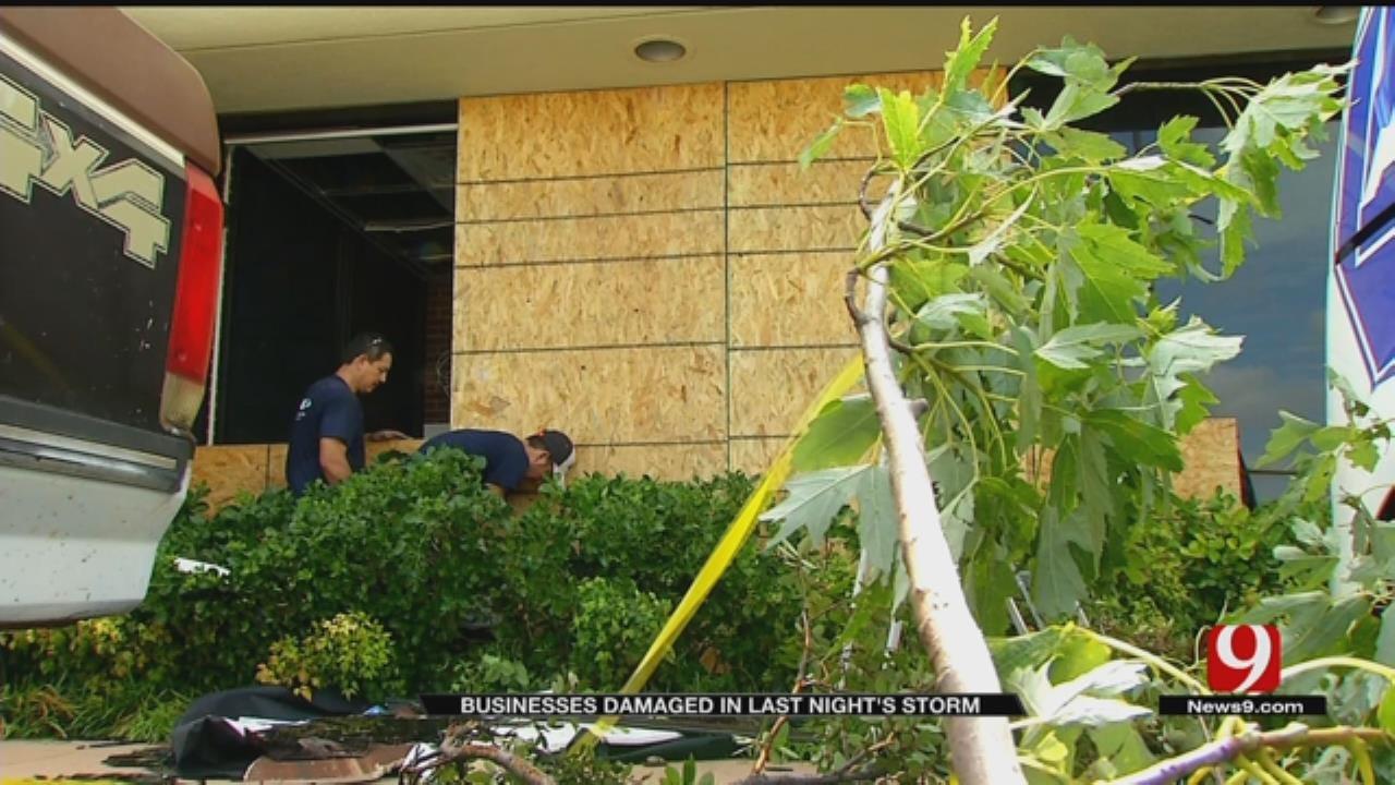Monday Night's Storm Damages Some OKC Businesses