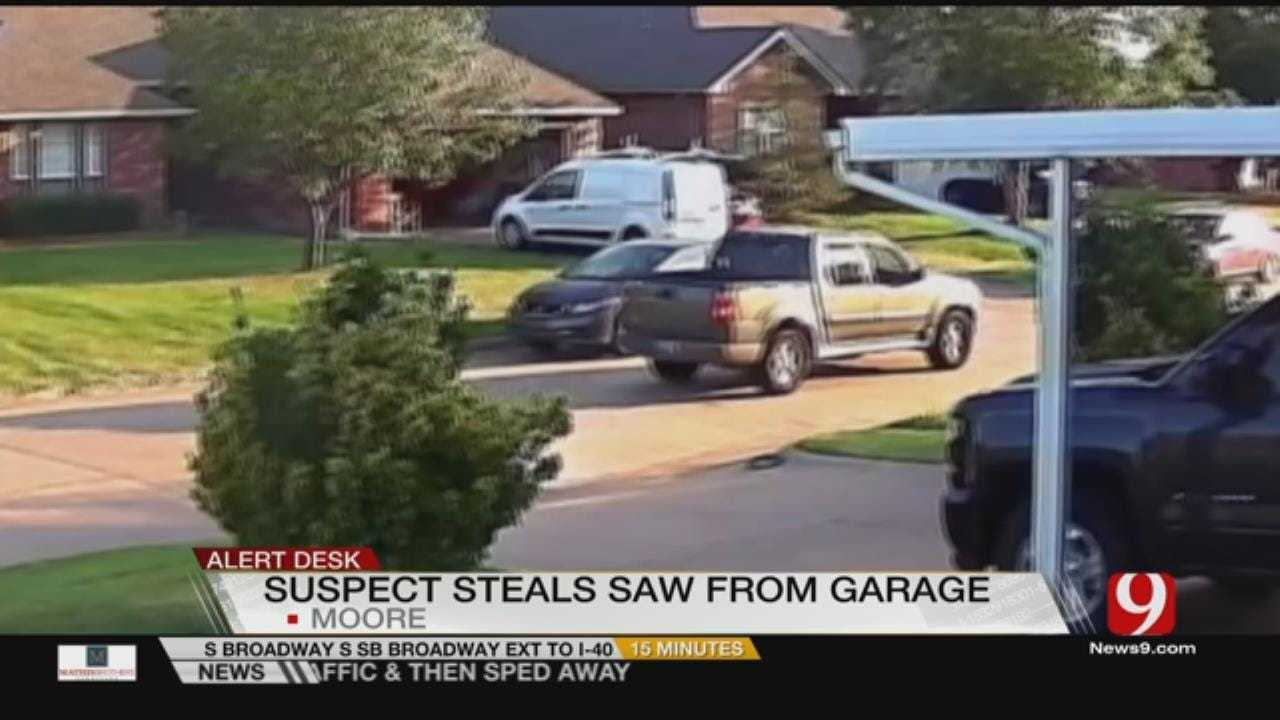 Man Steals Saw From Moore Home