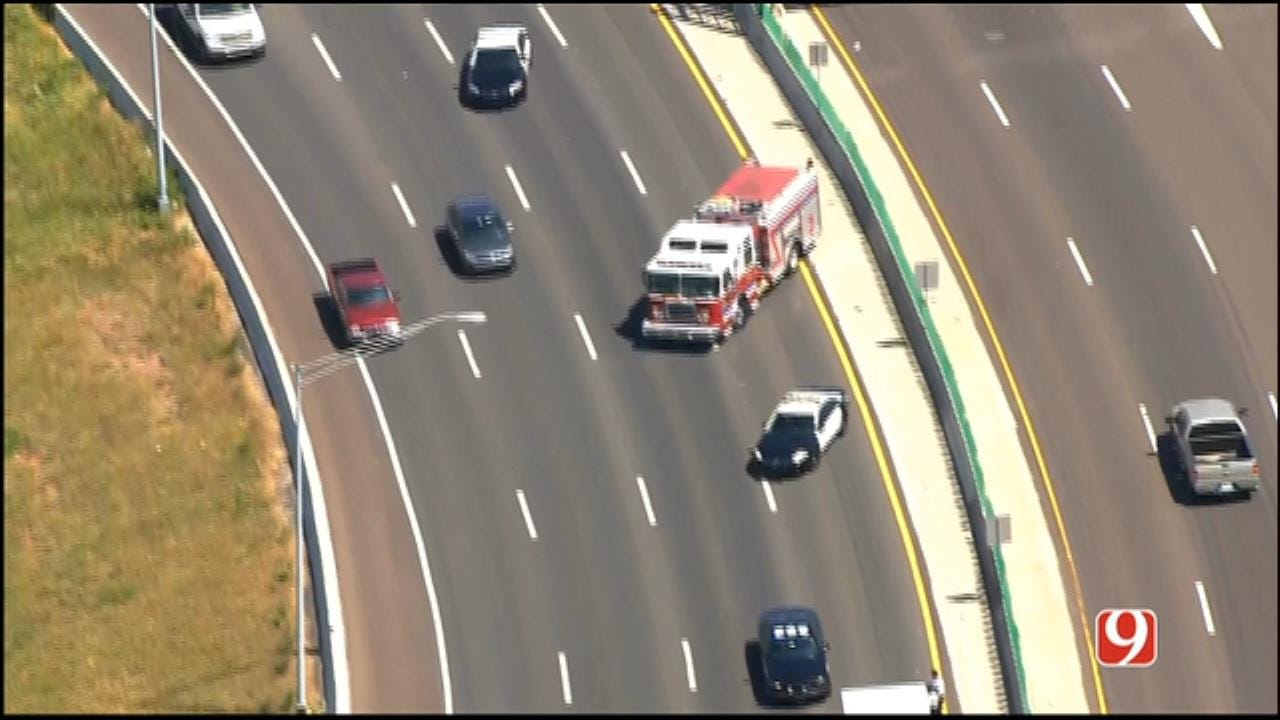 WEB EXTRA: Crash Prompts Lane Closures On I-40 In MWC