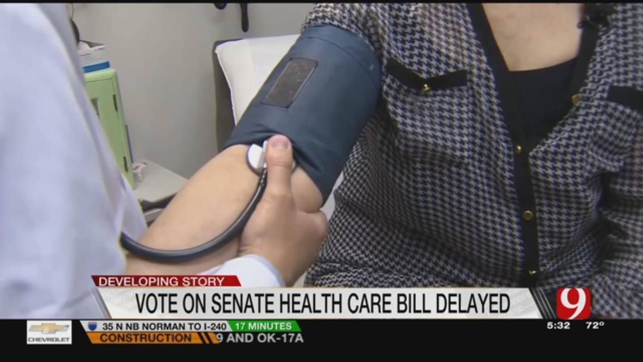 Senate Health Care Bill Delayed, OK Senators Noncommittal