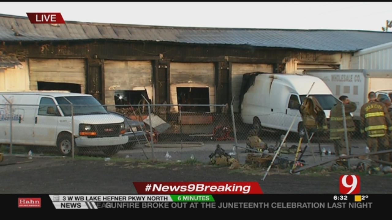 OKC Fire Respond To 3-Alarm Commercial Fire In SW OKC