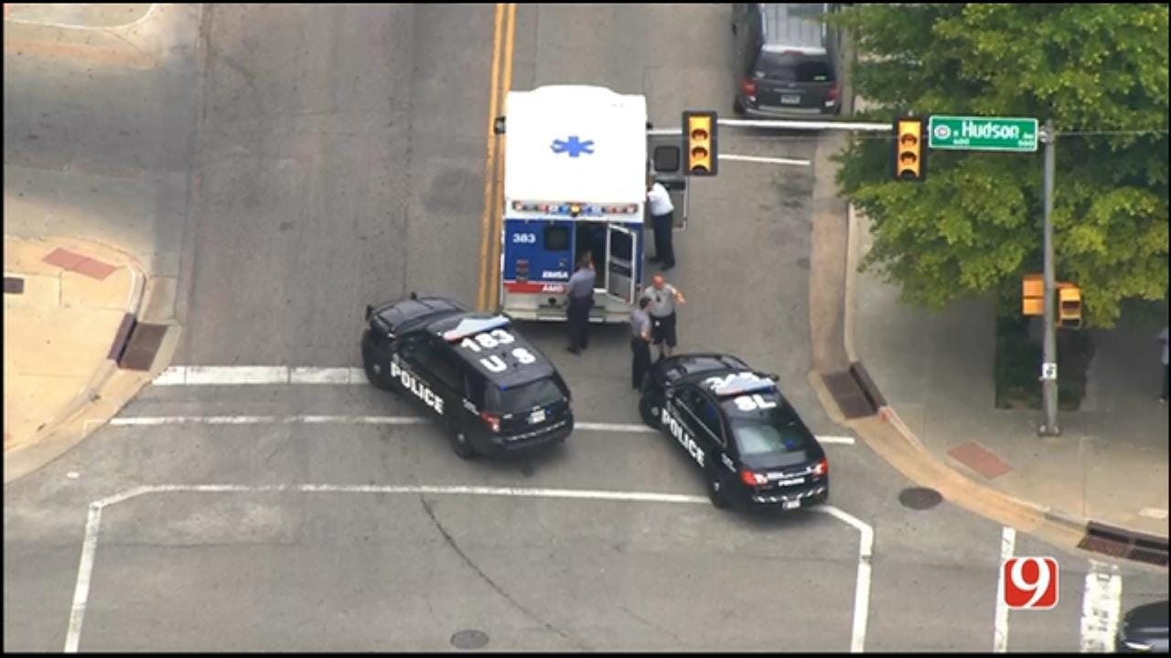 WEB EXTRA: SkyNews 9 Flies Over Stabbing Investigation In Downtown OKC