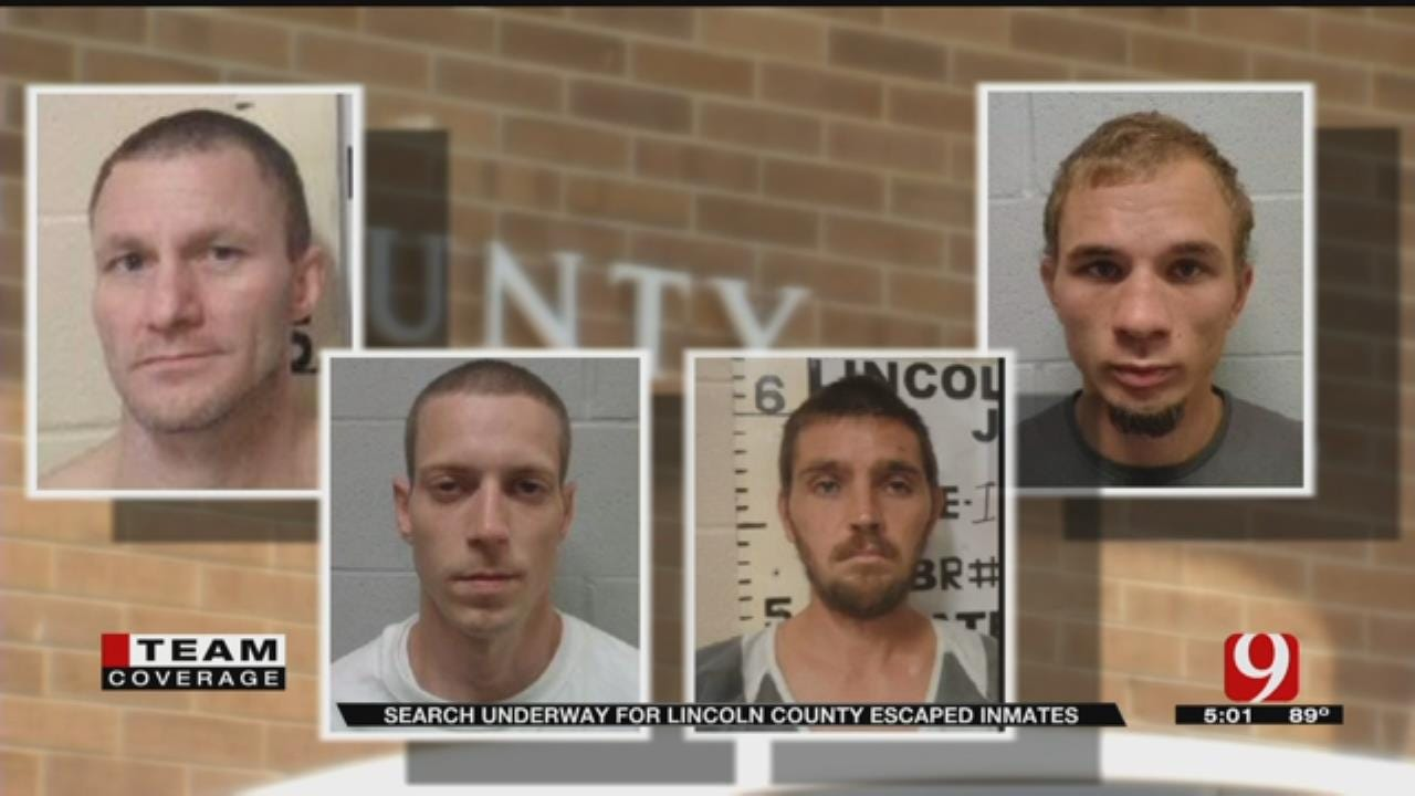 4 Lincoln County Jail Escapees Remain At Large Monday Evening