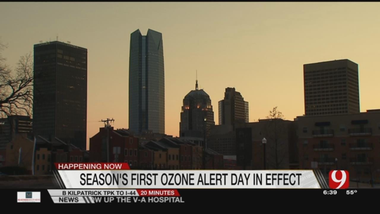 OK County And Surrounding Counties Under Ozone Watch Today