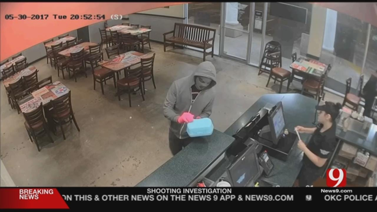 Pink Gloves, Kid's Lunch Box Used To Rob Store