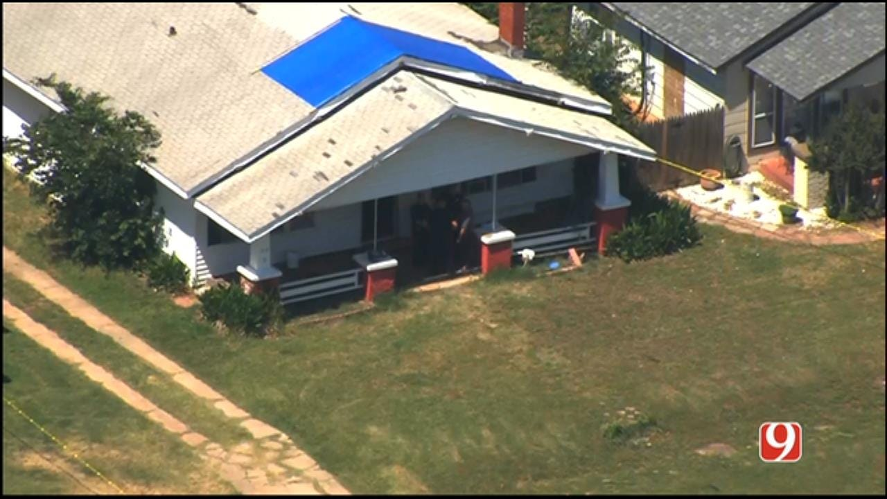 WEB EXTRA: Bob Mills SkyNews 9 Flies Over Chickasha Shooting Investigation