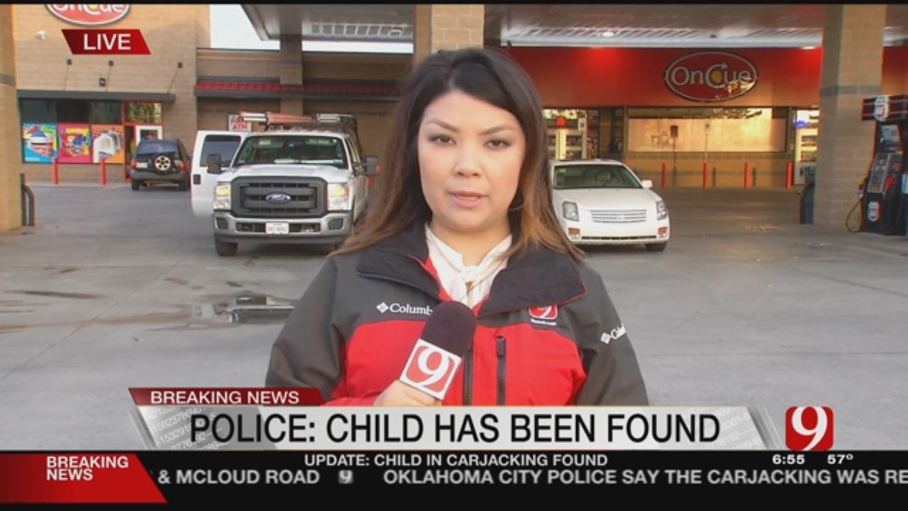 Child Found After Riding In Stolen Car