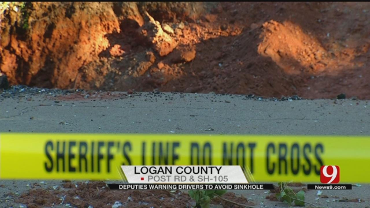 Logan County Deputies Warn Drivers To Avoid Sinkhole
