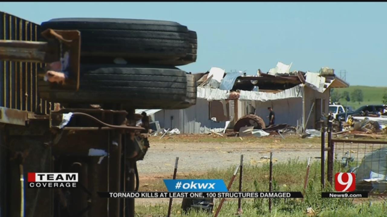 Residents Survey Damage After Deadly Tornado Rips Through Elk City