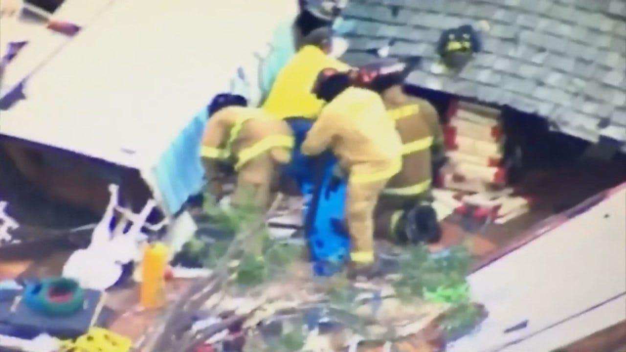 WEB EXTRA: SkyNews 9 Captures Rescue In Progress In Elk City