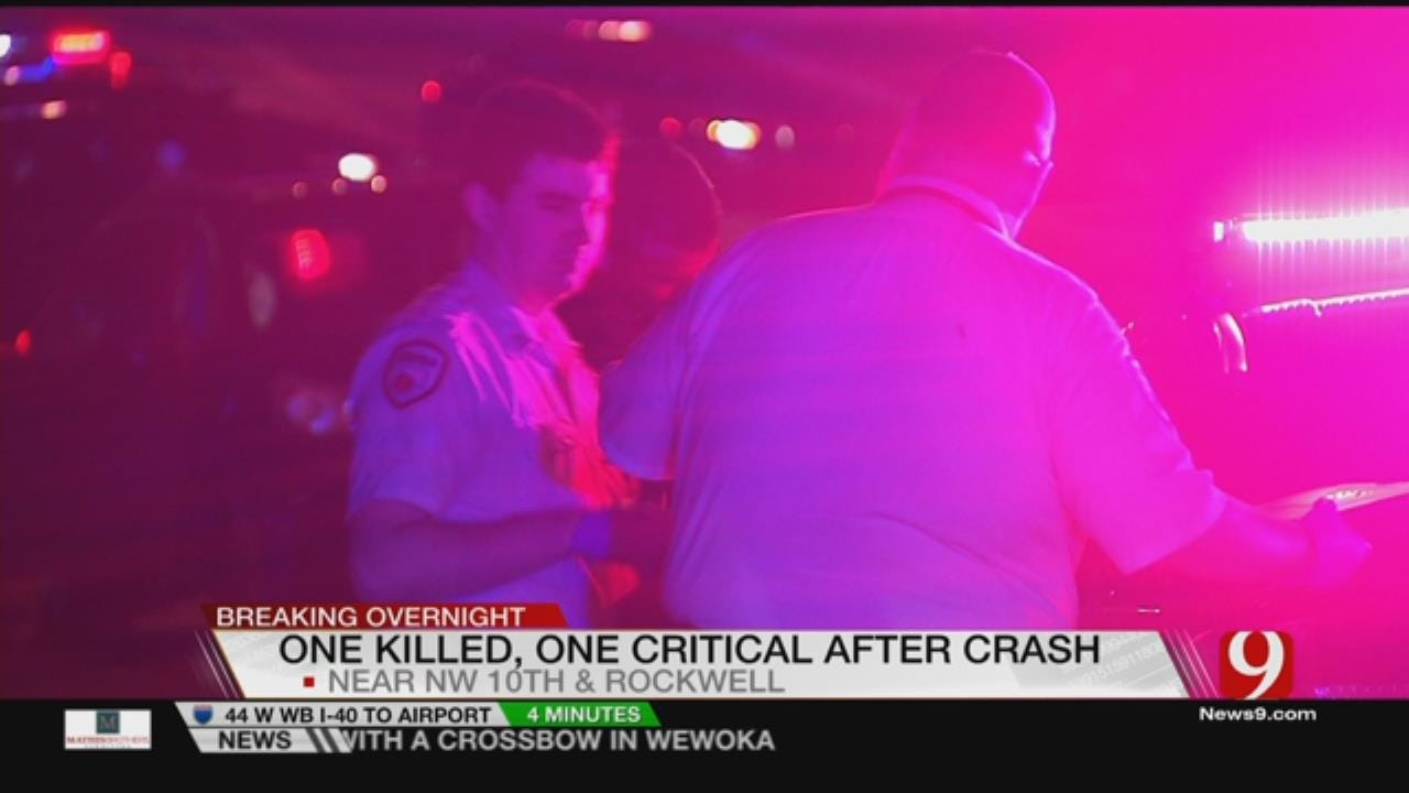 One Dead, One Critical After Multi Car Wreck In NW OKC