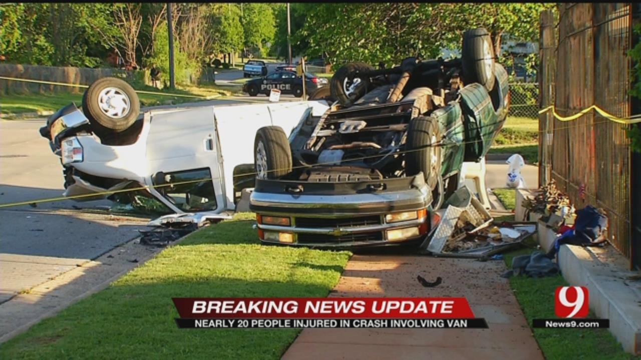 Van Involved In Crash In NE OKC, Multiple Injuries Reported