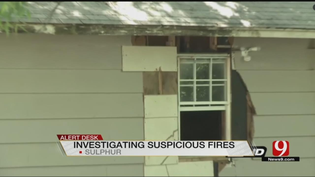 Sulphur FD Investigation Possible Arsons
