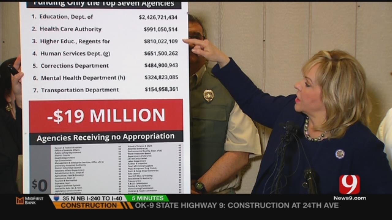 Fallin Visits News 9 To Discuss Budget Fight
