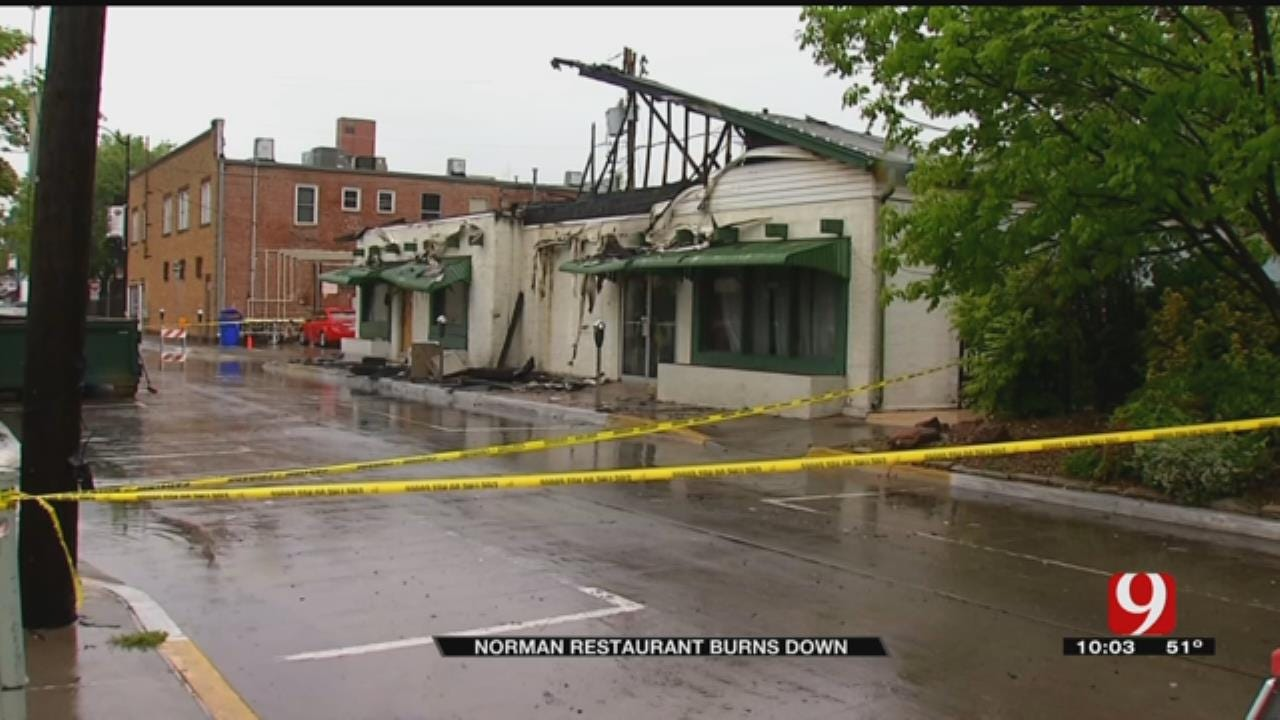 Longtime Norman Restaurant Catches Fire During Severe Storm