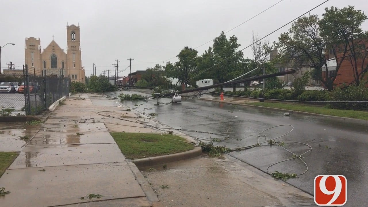 WEB EXTRA: Power Lines Down In OKC