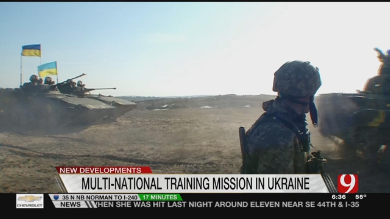 Oklahoma's 45th Feeling Sense of Urgency In Training Ukrainian Soldiers