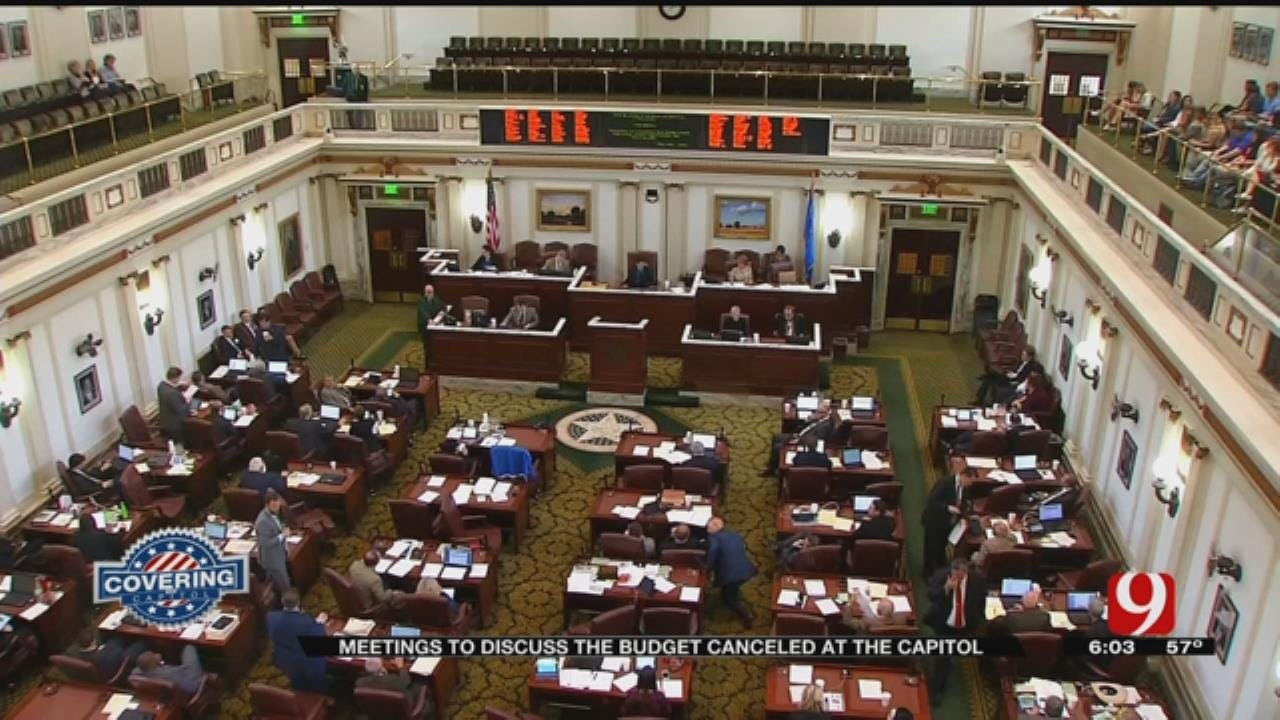 Meetings To Discuss Budget Canceled At The Capitol