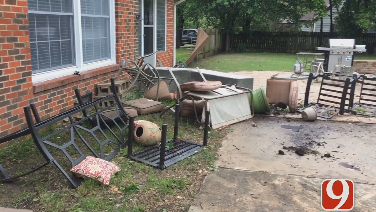 Holdenville Property, Trees Damaged In Tuesday Storm