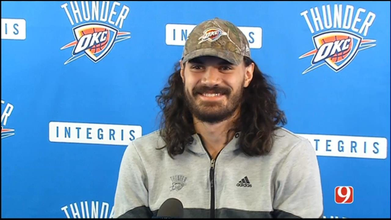 Steven Adams Speaks With Media At 2016-17 Exit Interview